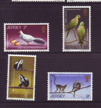 Jersey Sc 49-52 1971 Wildlife stamp set mint NH