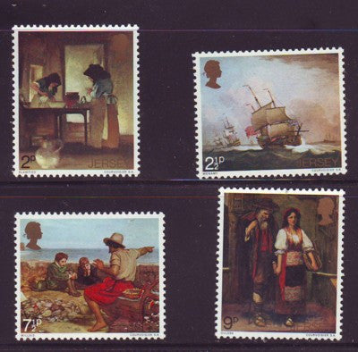 Jersey Sc 57-60 1971 Paintings  stamp set mint NH