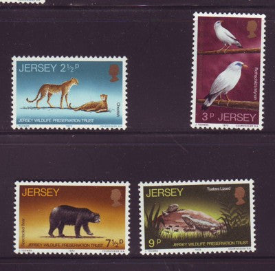 Jersey Sc 65-68 1972 Wildlife Trust  stamp set mint NH