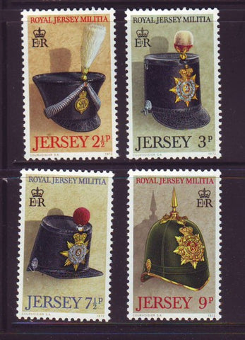 Jersey Sc 69-72 1972  Military Hats  stamp set mint NH