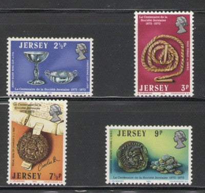 Jersey Sc 77-80 1973 Jersey Artifacts stamp set mint NH