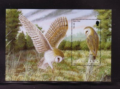 Jersey Scott  1003 2001 Barn Owl stamp sheet mint NH