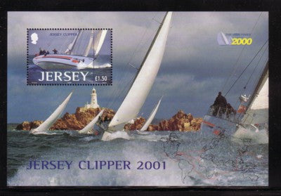 Jersey Scott  1004 2001 Jersey Clipper stamp sheet mint NH