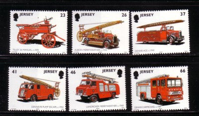 Jersey Scott  1005-10 2001 Fire Engines stamp set mint NH