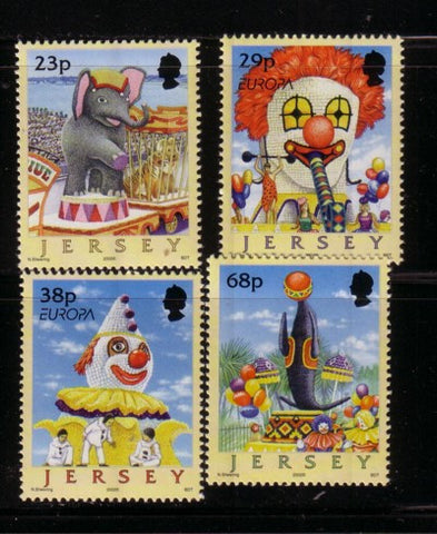 Jersey Scott  1020-3 2002  Europa Circus stamp set mint NH