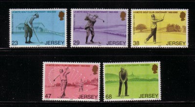 Jersey Scott  1024-8 2002  La Moye Golf Club stamp set mint NH