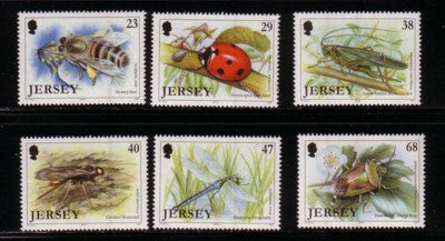 Jersey Scott  1035-40 2002  Insects stamp set mint NH