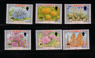 Jersey Scott  1042-7 2002  Battle of Flowers stamp set mint NH