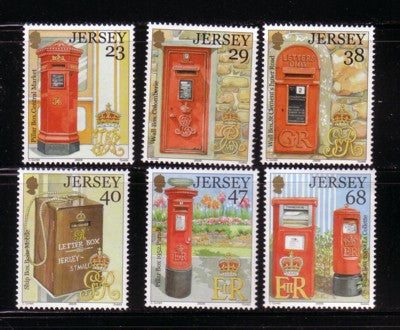 Jersey Scott  1056-61 2002 150th Anniversary Letter Boxes stamp set mint NH