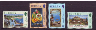 Jersey Scott  1071-4 2003 Europa Poster Art stamp set mint NH