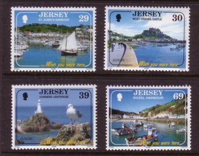 Jersey Scott  1112-15 2004 Europa Tourist Attractions stamp set mint NH