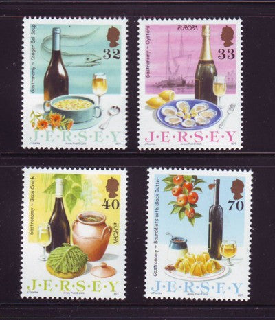 Jersey Scott 1152-5 2005 Europa Gastronomy stamp set used