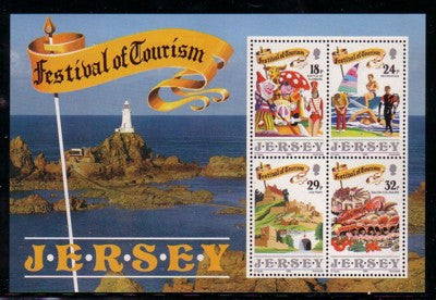 Jersey Scott  539a 1990 Festival of Tourism stamp sheet mint NH