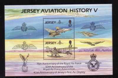 Jersey Scott  639a 1993 Aviation History stamp sheet mint NH
