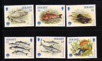 Jersey Scott 858-63 1998 Marine Life stamp set mint NH