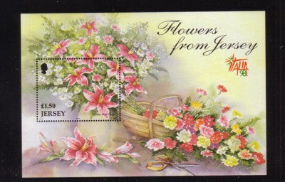 Jersey Scott  878 1998 Flowers stamp sheet mint NH