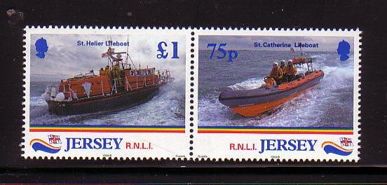 Jersey Scott 888-9 1999 Lifeboats stamp set mint NH