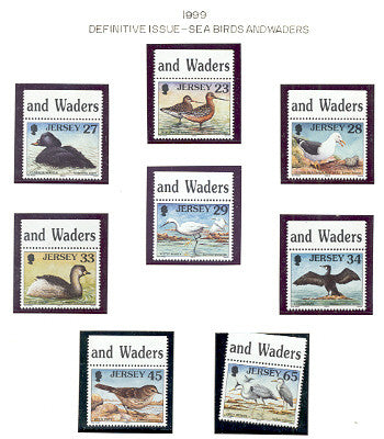 Jersey Scott 909-16 1999 Birds stamp set mint NH