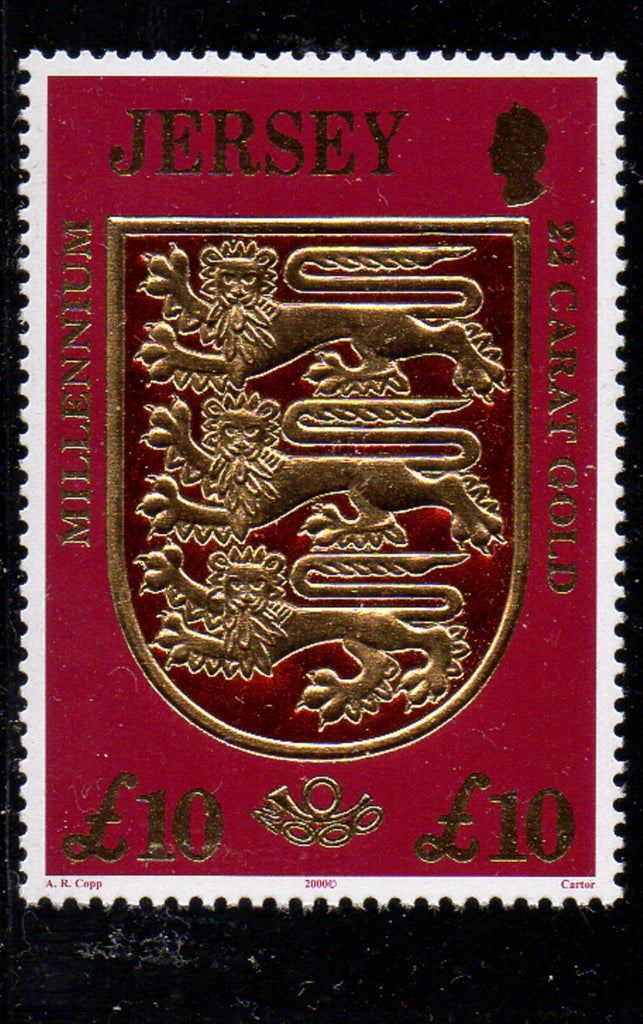 Jersey Scott  933 2000 L10 Coat of Arms stamp  mint NH