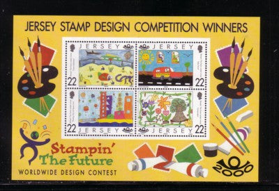 Jersey Scott  940a 2000 Stampin the Future stamp sheet mint NH