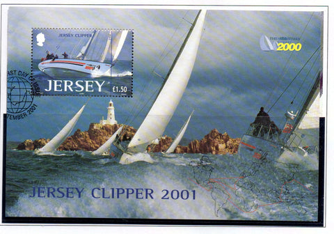 Jersey Scott  1004 2001 Jersey Clipper stamp sheet used
