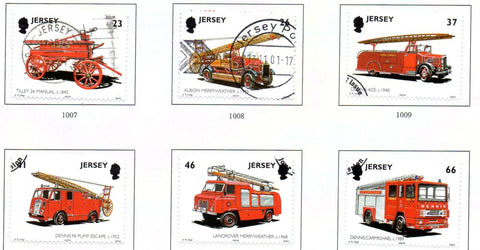 Jersey Scott  1005-10 2001 Fire Engines stamp set used