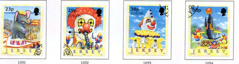 Jersey Scott  1020-3 2002  Europa Circus stamp set used