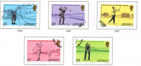 Jersey Scott  1024-8 2002  La Moye Golf Club stamp set used