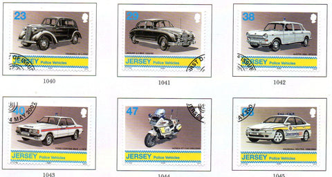 Jersey Scott  1029-34 2002  Police Vehicles stamp set used