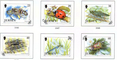 Jersey Scott  1035-40 2002  Insects stamp set used