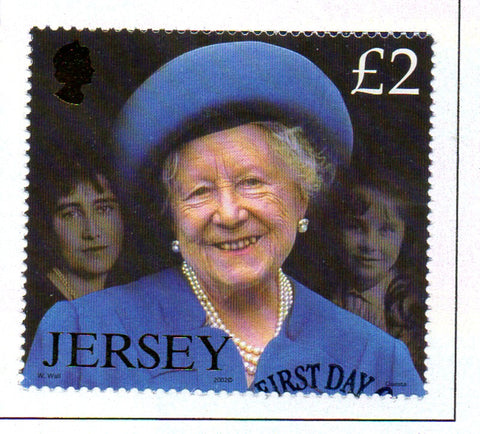 Jersey Scott  1041 2002  Queen Mother Memorial stamp used