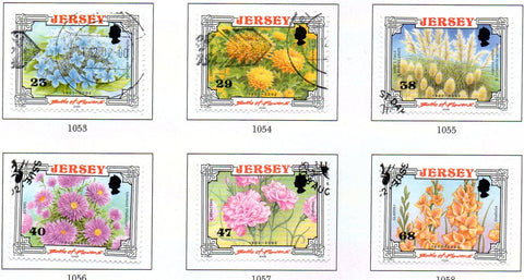 Jersey Scott  1042-7 2002  Battle of Flowers stamp set used