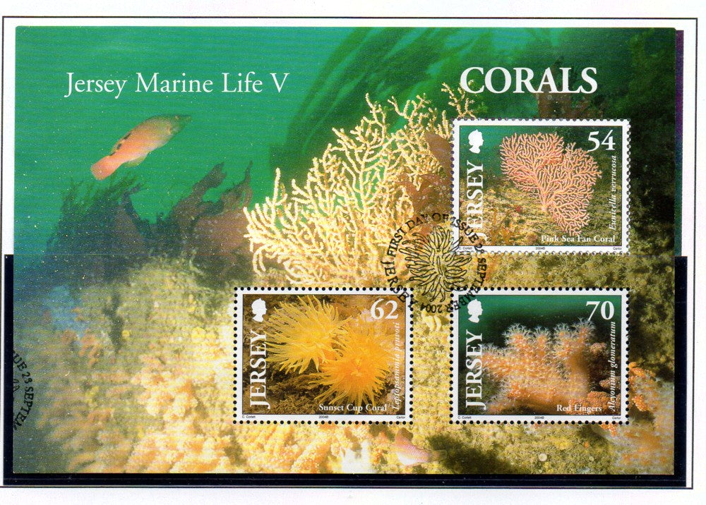 Jersey Scott  1143a 2004 Corals stamp sheet used