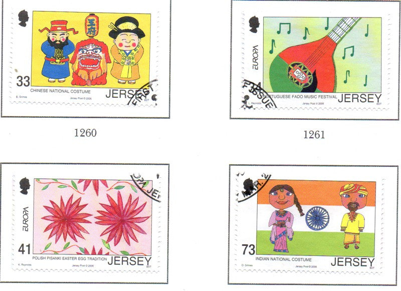 Jersey Scott 1203-6 2006 Europa stamp set used