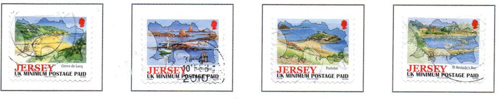 Jersey Scott 1217-20 2006 Island Views stamp set used