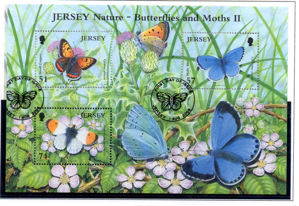 Jersey Scott 1227 2006 Butterflies & Moths stamp sheet used