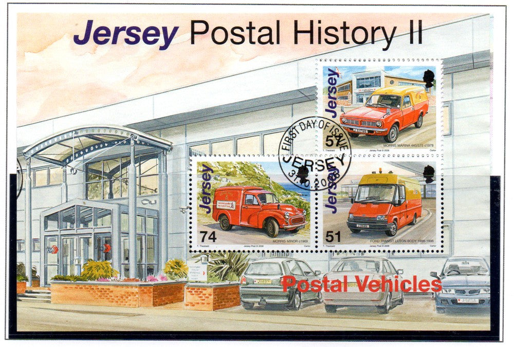Jersey Scott 1241c 2006 Postal Vehicles stamp sheet used