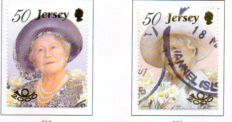 Jersey Scott  962-3 2000 Queen Mother 100 stamp set  used