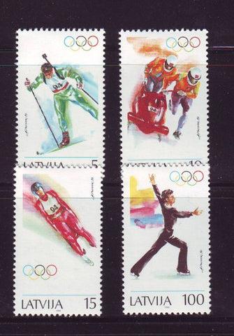 Latvia Scott  356-9 1994 Lillehammer Olympics stamp set mint NH