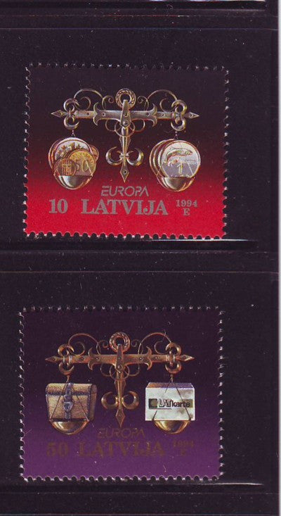 Latvia Scott 379-80 1994 Europa stamp set mint NH