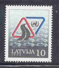 Latvia Scott  392 1995 Safe Driving Week stamp mint NH