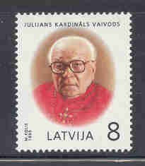 Latvia Scott  399 1995 Cardinal Vaivods stamp mint NH