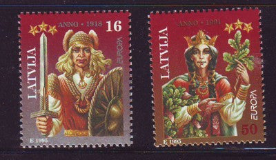 Latvia Scott  407-8 1995 Europa Peace & Freedom stamp set mint NH