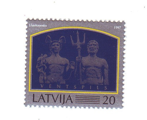 Latvia Scott  445 1997 Ventspils stamp mint NH