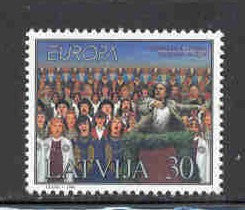 Latvia Scott  463 1998 Europa Song Festival stamp mint NH