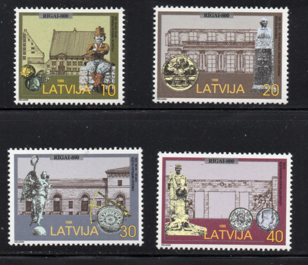 Latvia Scott  468-71 1998 800th Anniversary Riga stamp set mint NH