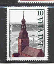 Latvia Scott  475  1998 Dome Church, Riga, stamp mint NH