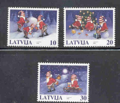 Latvia  Scott  479-81  1998 Christmas stamp set mint NH