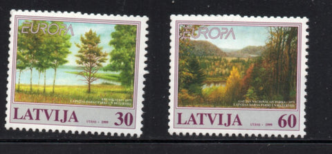 Latvia  Scott  484-5 1999  Europa stamp set mint NH