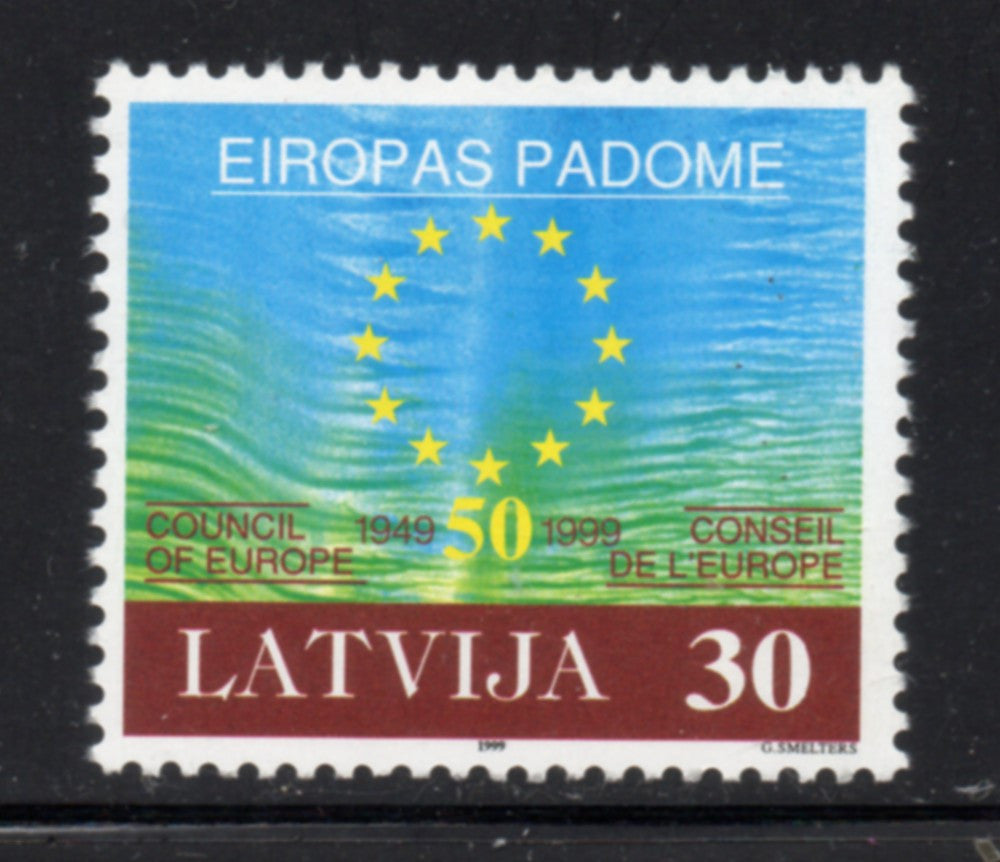 Latvia  Scott  486  1999 Council of Europe stamp mint NH